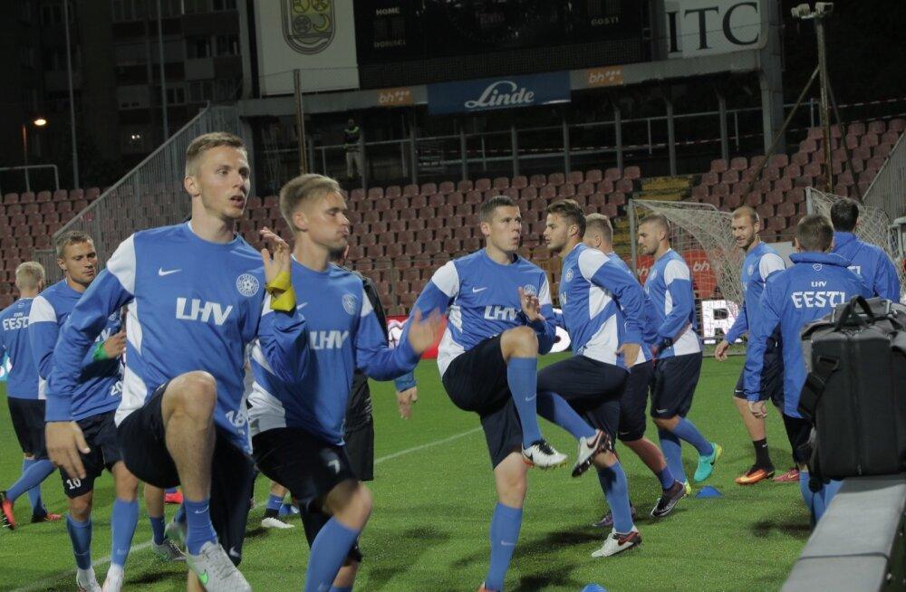 """Eesti koondis alustas 2018. aasta MM-valiksarja eile õhtul Bosnia ja Hertsegoviina koondise """"kindluses"""" Bilino Polje staadionil."""