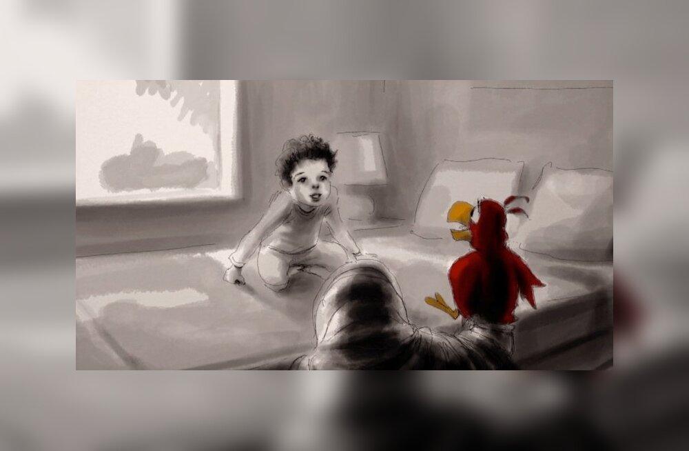 """Iago animatsioonist """"Aladdin"""" oli üks esimesi tegelasi, kes väikese Oweniga jutule sai."""