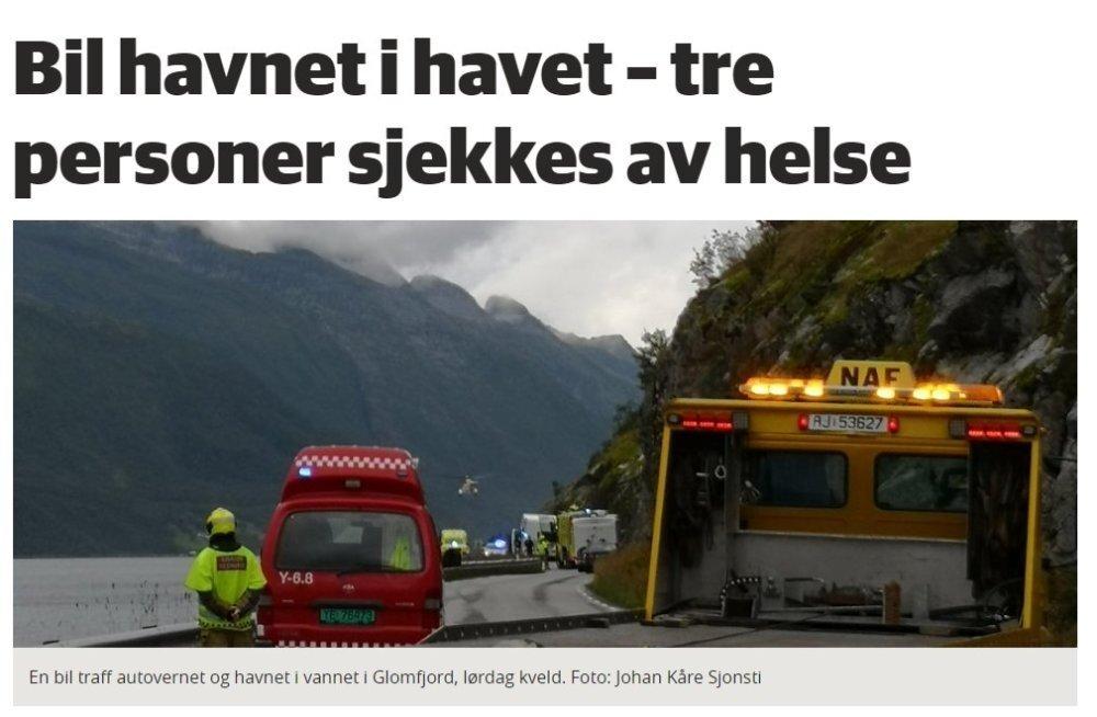 В Северной Норвегии машина из Эстонии попала в ДТП, угодив в море