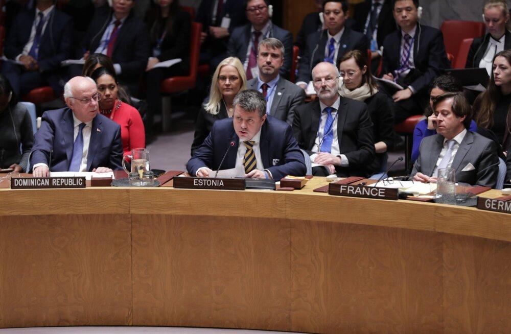 Välisminister Urmas Reinsalu ÜRO julgeolekunõukogu 9. jaanuari kohtumisel