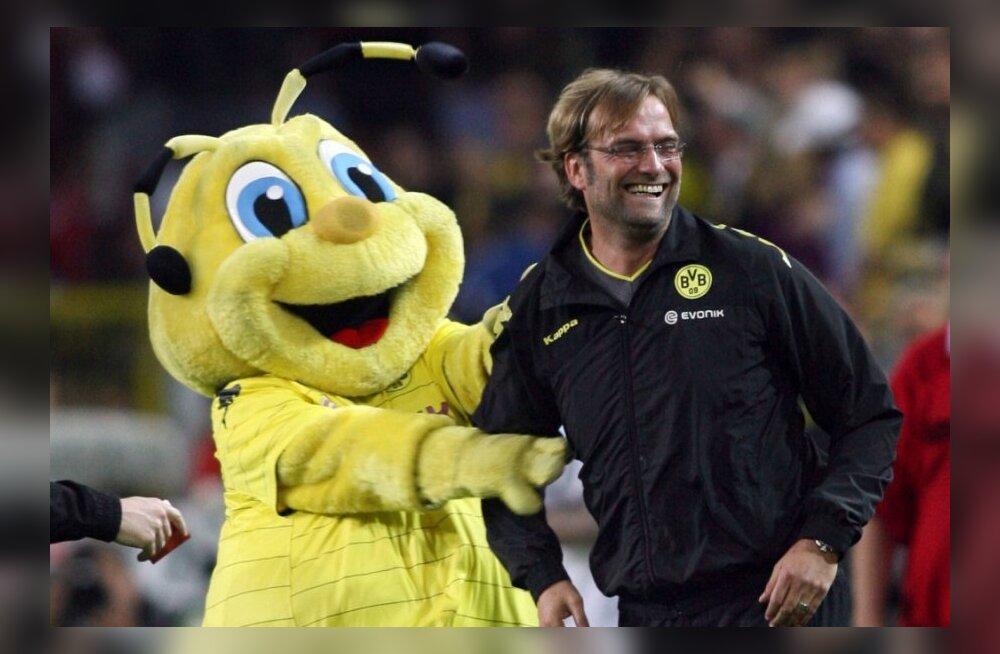 Dortmundi Borussia maskott ja peatreener Jürgen Klopp, jalgpall