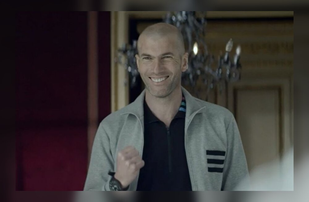 Rõõmsameelne Zinedine Zidane