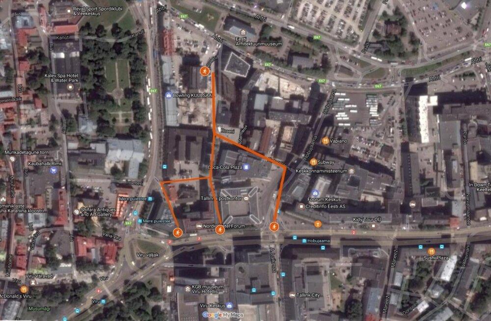 Metropoli hotelli tulistaja võimalikud põgenemisteed