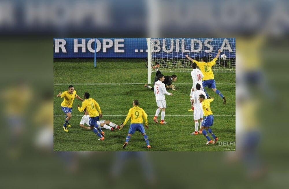 Jalgpalli MM, Juan viis Brasiilia Tšiili vastu juhtima