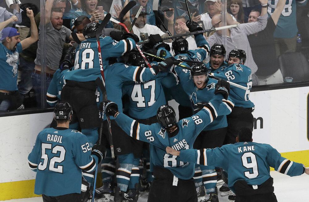 VIDEO | Võimsa tagasituleku teinud San Jose Sharks lülitas konkurentsist mulluse NHL-i finalisti