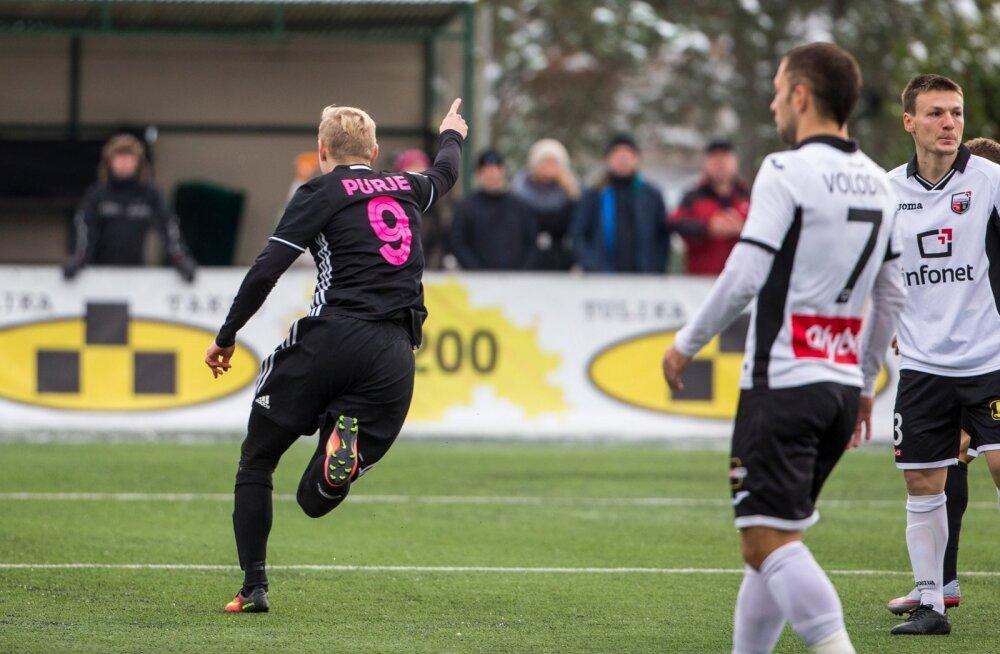 Ats Purje FC Nõmme Kalju särgis