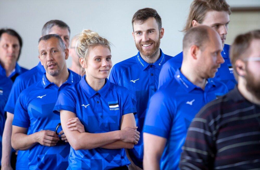 Eesti naiste ja meeste võrkpallikoondiste ühine pressikonverents