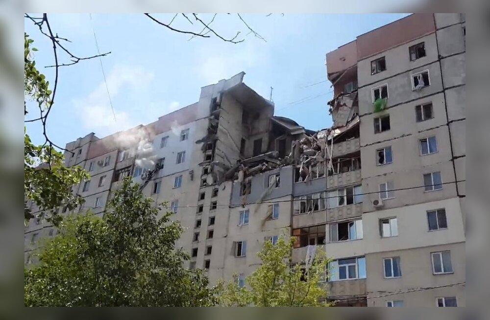 VIDEO: Ukrainas Mõkolajivis toimus 9-kordses elumajas võimas plahvatus