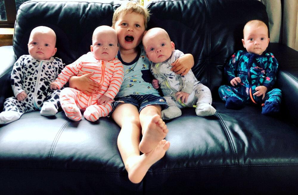 Уникальный случай! Муж и жена усыновили четверых детей, а потом у них родились четверняшки
