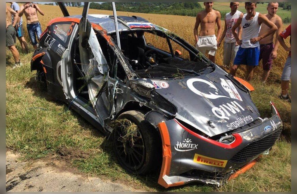 FOTO | Üliraske kokkupõrke järel ralliradadele naasnud Lukjanuk tegi kohe taas avarii