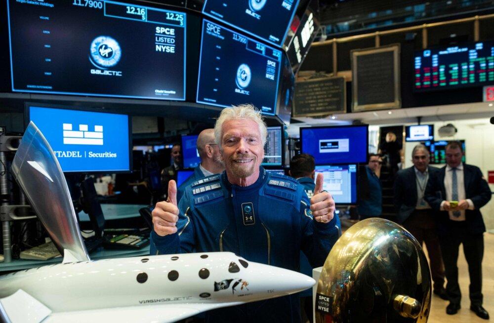 Bransoni kosmoseturismifirma startis börsil
