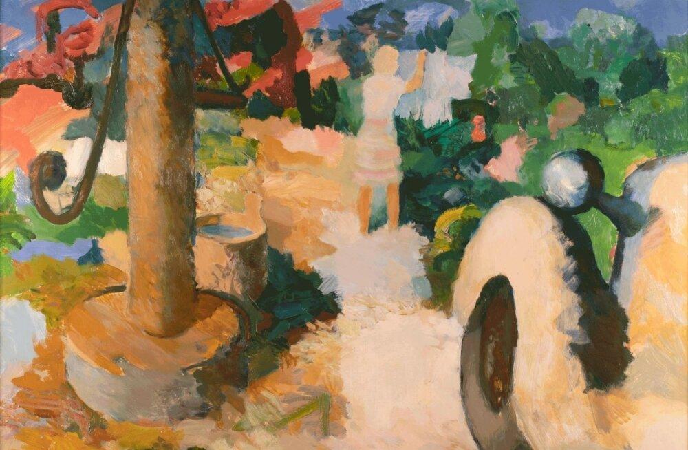 Малоизвестная картина эстонского художника продана за огромную сумму. За нее бились два покупателя