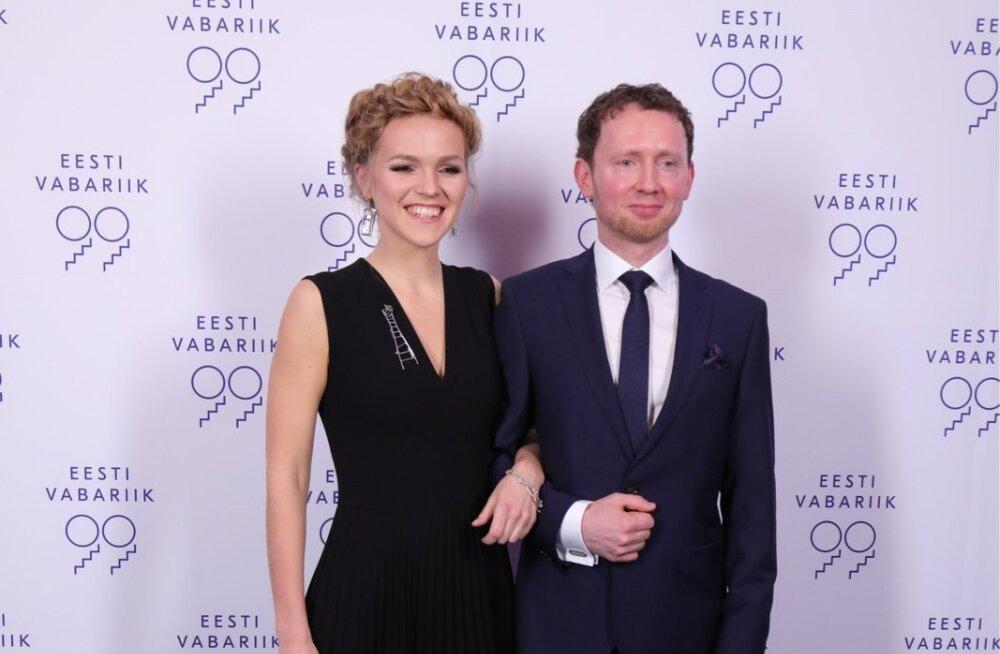 Džässlaulja ja helilooja, aasta naisartist Kadri Voorand  ja muusik hr Mihkel Mälgand