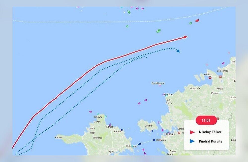 Мимо Эстонии прошли огромные российские подлодка и крейсер. Их сопровождал флагман эстонского морфлота
