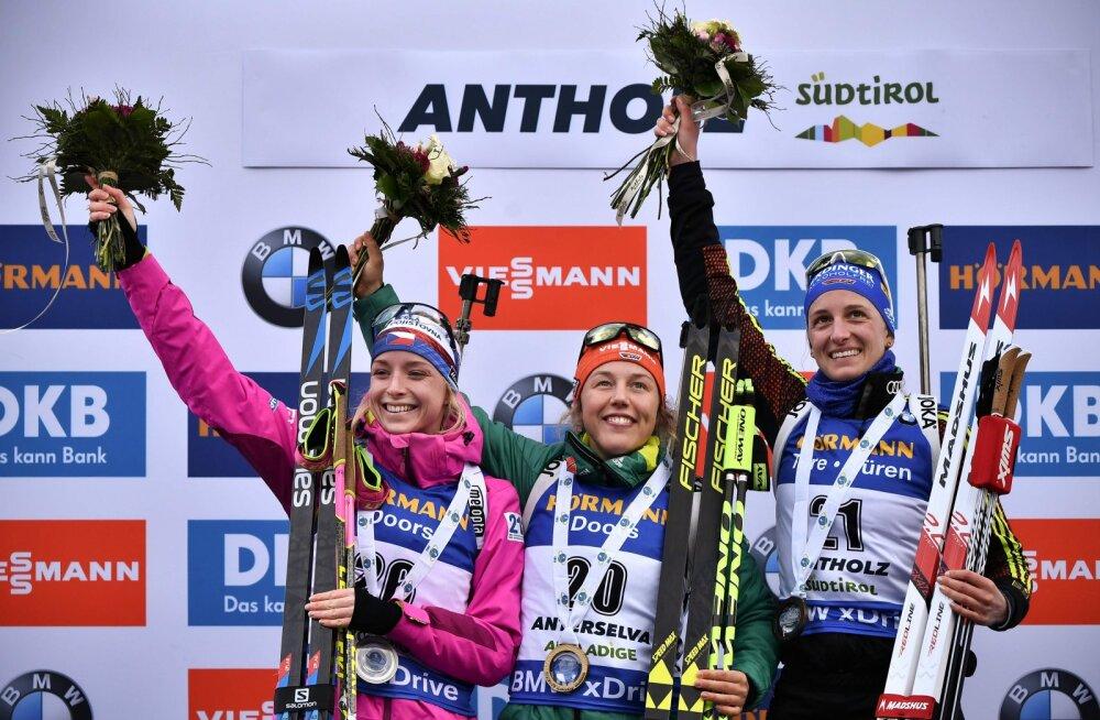 Viimati aasta tagasi triumfeerinud Dahlmeier võttis Anterselvas ühisstardi võidu
