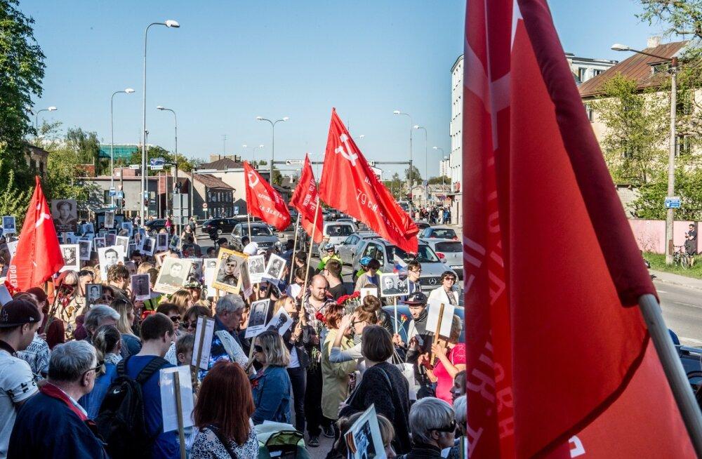"""ФОТО: В Таллинне прошло шествие """"Бессмертный полк"""""""