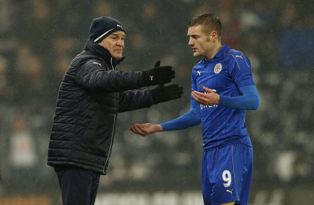 Claudio Ranieri ja Jamie Vardy