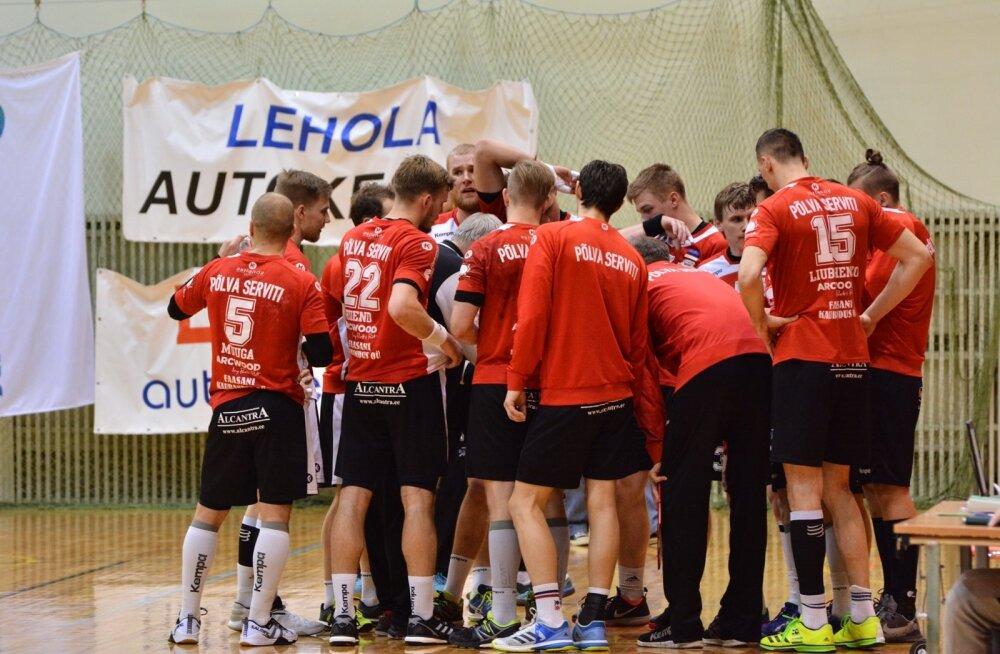Eesti meeste käsipalli meistrivõistlused Viljandi HC ja Põlva Serviti