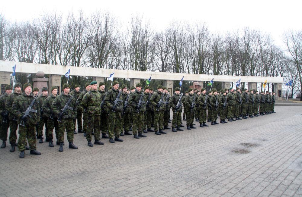 Новобранцы приняли присягу в парке Юрьевой ночи