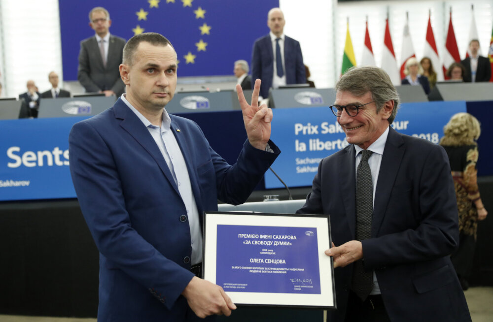 DELFI STRASBOURGIS | Sentsov: mina ei usalda Putinit ja kutsun teid sama tegema