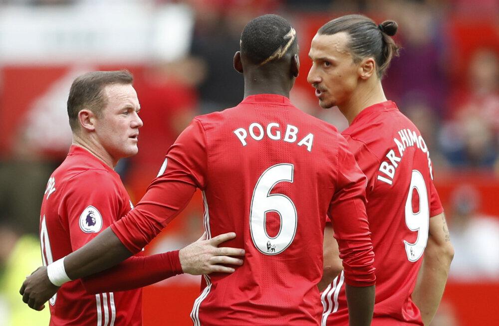Wayne Rooney, Paul Pogba ja Zlatan Ibrahimovic