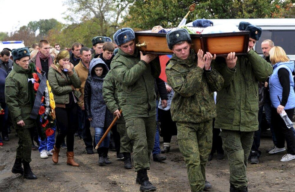 Vedomosti avaldas andmed viimasel 5 aastal hukkunud Vene sõjaväelaste kohta: tippaasta oli 2014