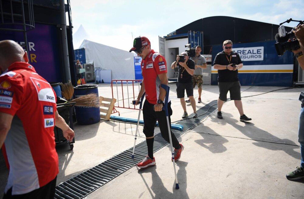 VIDEO | Treeningul avarii teinud Lorenzo jätab Tai MotoGP etapi vahele