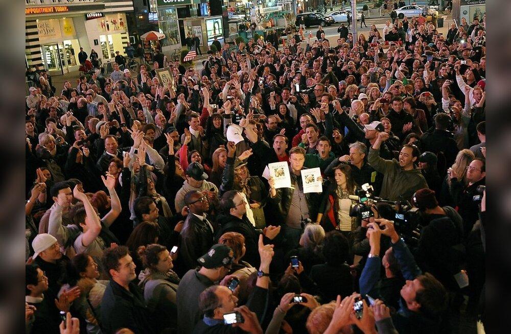 Soomlane New Yorgis: inimesed tähistavad fanaatiliselt bin Ladeni surma