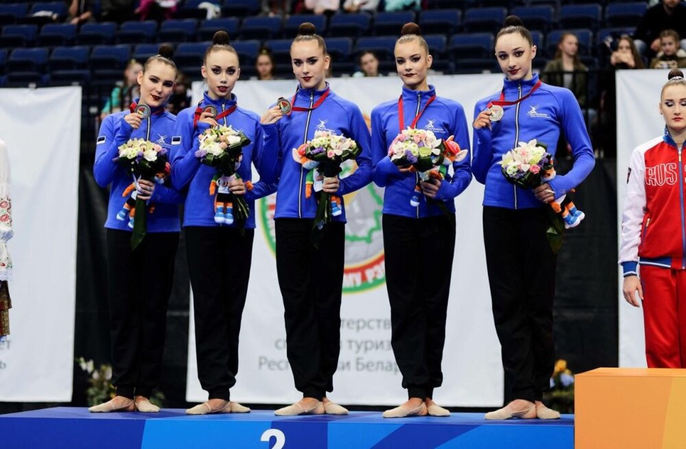 Eesti iluvõimlemise koondis võitis Euroopa Mängude testturniiril hõbeda ja pronksi