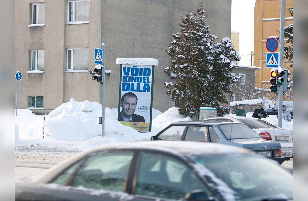 Suuremad erakonnad kinnitavad nädala pärast valimisnimekirja