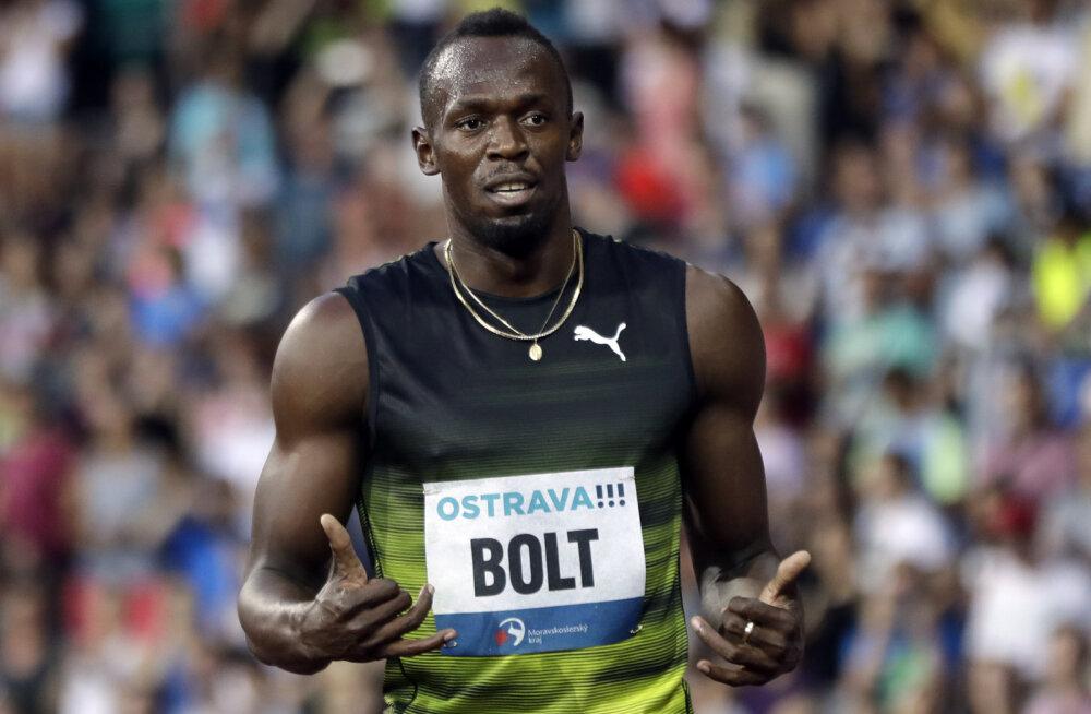 VIDEO | Usain Bolt tegi Ostravas esimese avaliku katse kaugushüppes