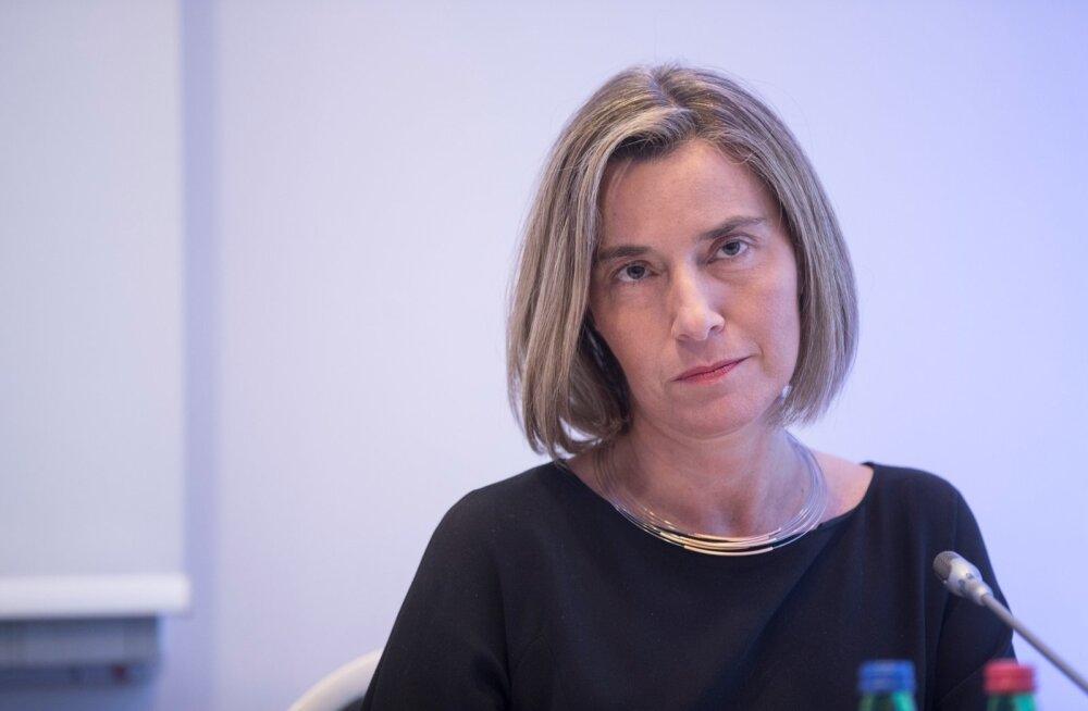 Federica Mogherini ja Sven Mikseri ühine pressikonverents