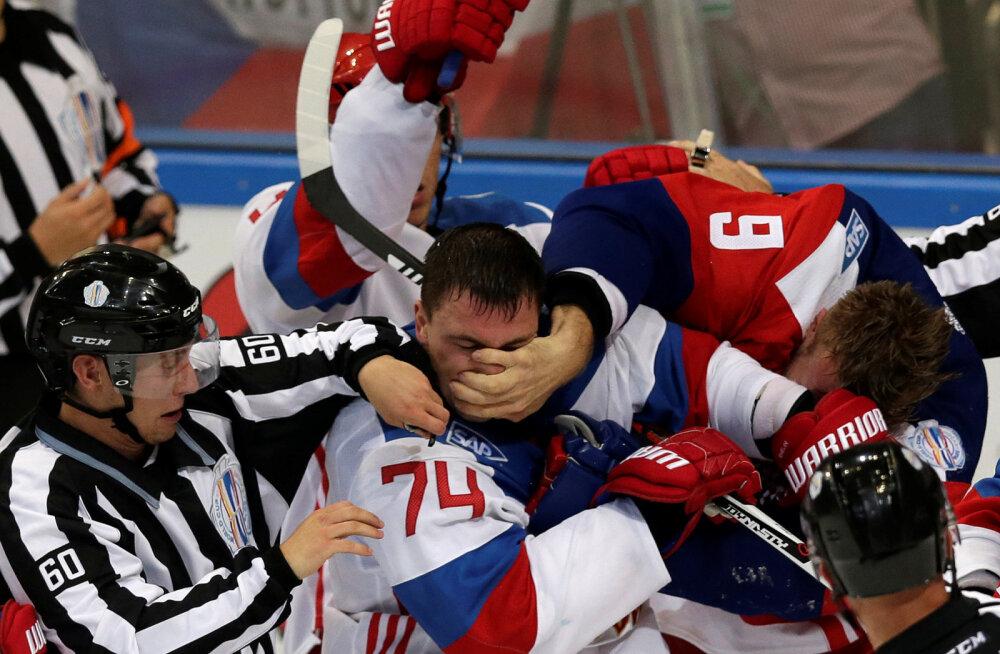 VIDEO: Venemaa ja Tšehhi sõprusmängus läks löömaks, võitja selgus alles bullitiseerias