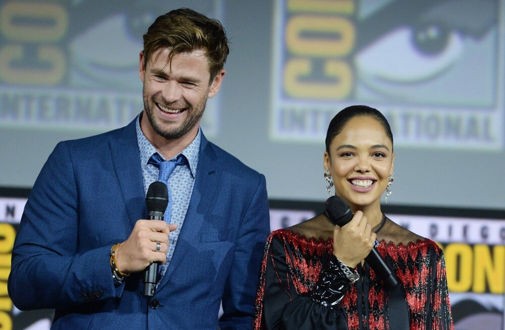 Chris Hemsworth and Tessa Thompson