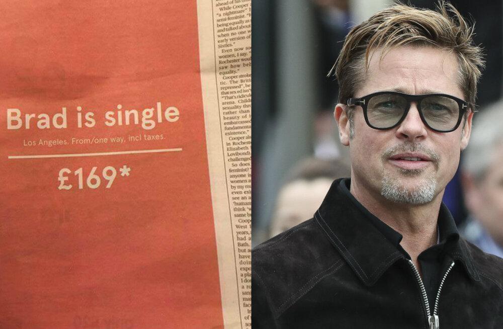 FOTO: Kas maailma andekaim reklaam? Lennufirma pakub soodushinnaga üheotsapileteid Los Angelesse vallalise Brad Pitti juurde