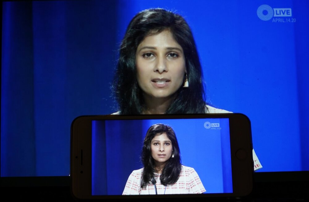 IMFi peaökonomist Gita Gopinath eile IMFi värsket majandusprognoosi tutvustamas.