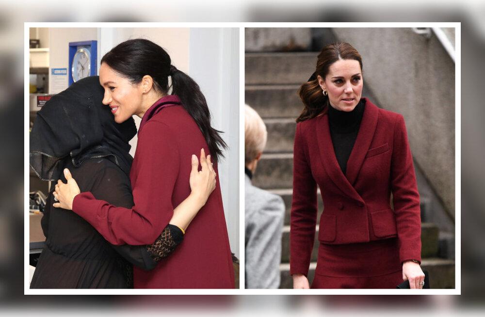 ФОТО: Как близняшки! Меган Маркл и Кейт Миддлтон в один день появились в похожих нарядах