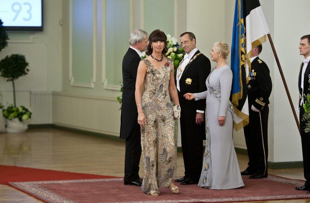 Tiina Mõis, Mart Kutsar, EV 93. aastapäeva presidendi vastuvõtt