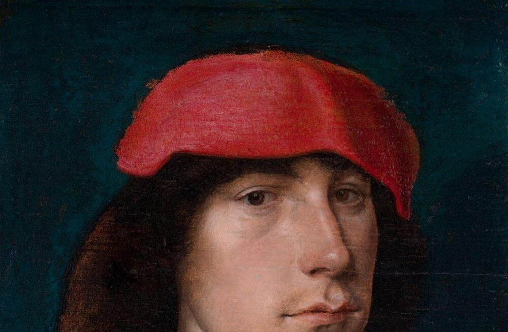 Michel Sittow (u 1469–1525)Noormees punase mütsiga.1490. aastad. Õli, puit. 16,4 × 12,9. Detroiti Kunstiinstituut, Anne ja Henry Fordi kingitus. Bridgeman Images