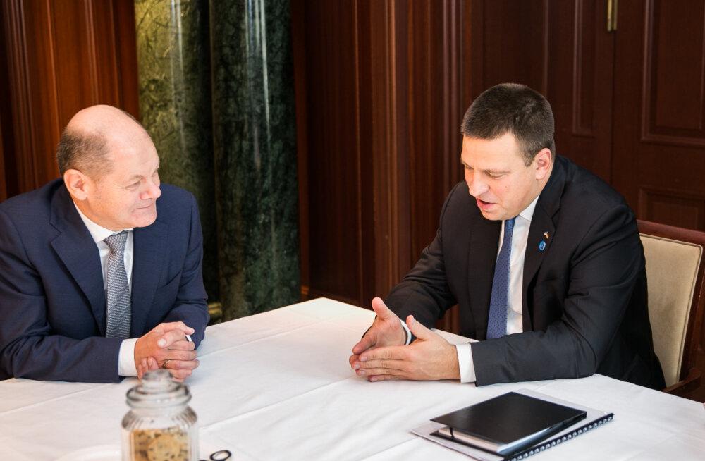 Юри Ратас обсудил с министром финансов Германии бюджет Евросоюза на 2021-2027 годы