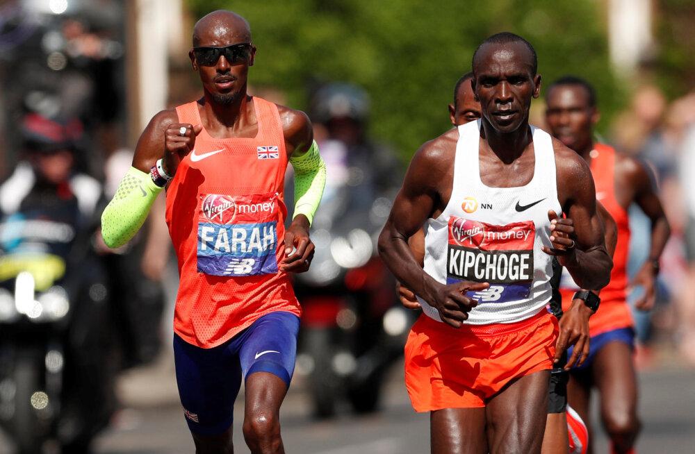 Londoni maratoni võitis taas Kipchoge, Mo Farah'l jäi pisut Euroopa rekordist puudu