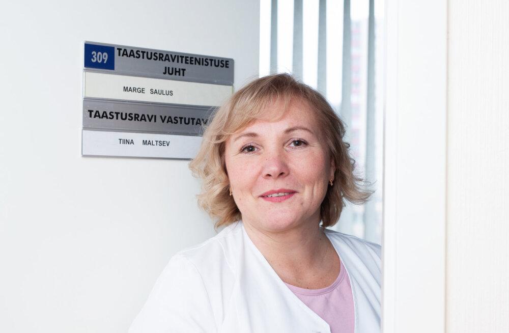Taastusravi osakonna vastutav õde Tiina Maltsev: raskeid hetki on olnud, aga sellist tunnet, et nüüd lõpetaks üldse ära, mitte
