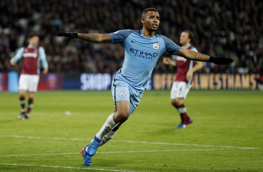 Gabriel Jesus avas Manchester Citys väravaarve