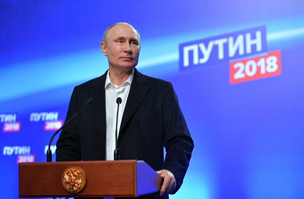 Vladimir Putin valimisõhtu pressikonverentsil