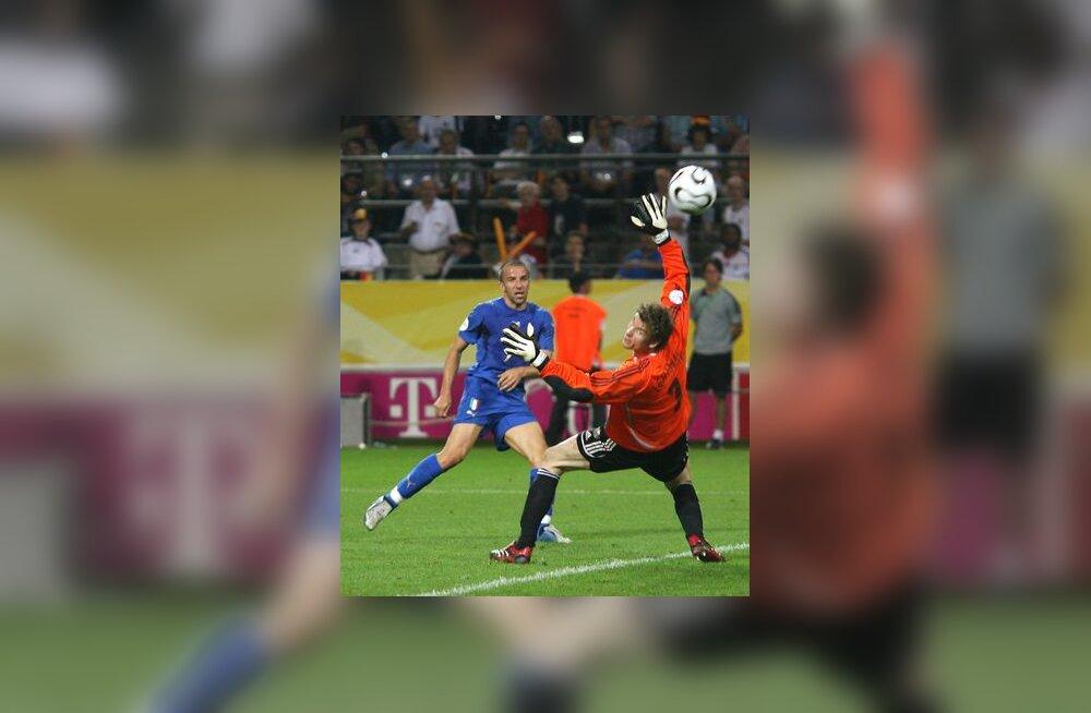 Alessandro Del Piero lööb teise palli sakslaste väravasse