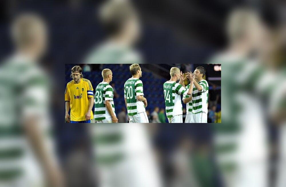FC Flora pärast võitu Bröndby üle