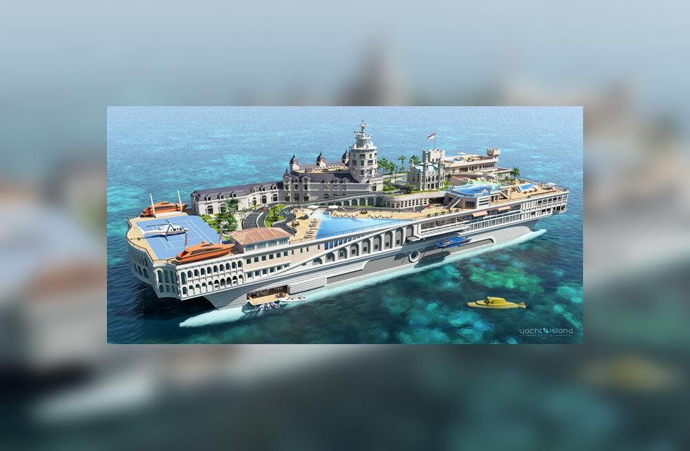 Streets of Monaco – tohutu jahtlaev on Monaco linnriigi väike koopia