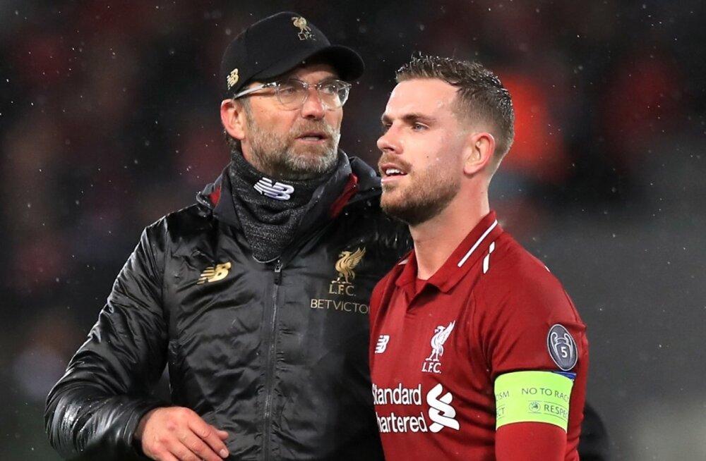 Liverpooli peatreener Jürgen Klopp ja kapten Jordan Henderson olid teisipäevase tulemusega rahulolematud.