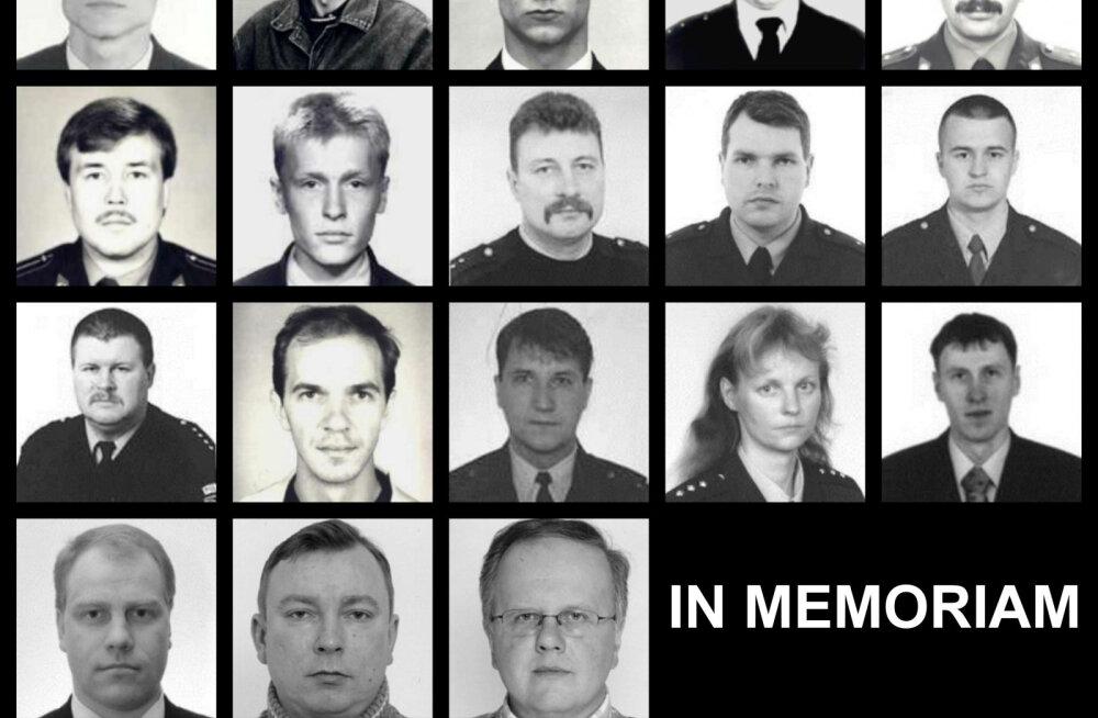 Täna langetavad politseinikud hukkunud kolleegide auks pead