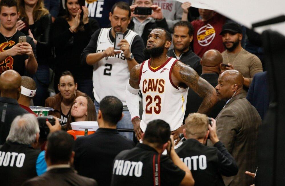 LeBron James jõudis järjekordse tähiseni.